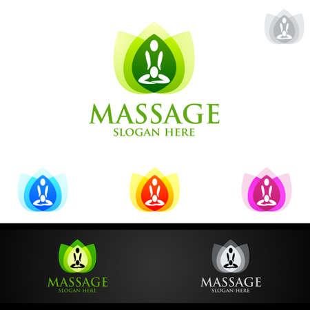 Chiropractic, massage, back pain and osteopathy Logo Design Logó