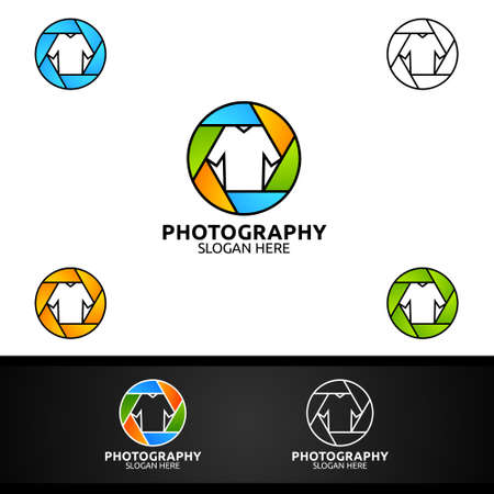 Fashion Camera Photography Logo Icon Vector Design Template