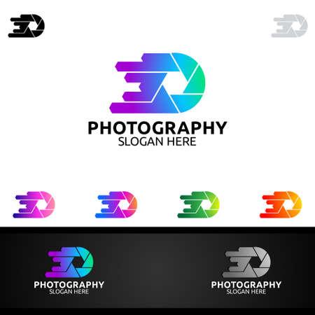 Abstract Camera Photography Logo Icon Vector Design Template