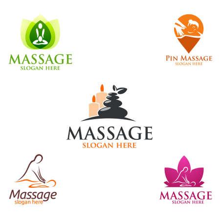 Body Spa Logo, massage, spa, relax, essential oil, white background, vector Logo illustration Logo