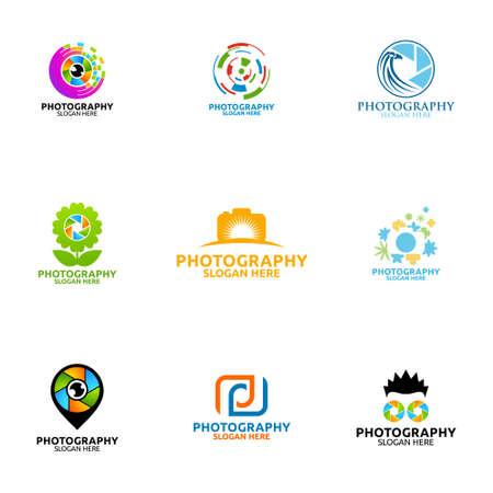 Abstract Camera Photography Logo Icon Vector Logo Design Template