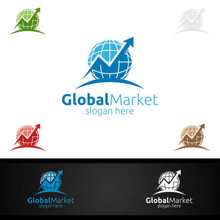 Marketing Financial Advisors Vector Logo Design Template Icon