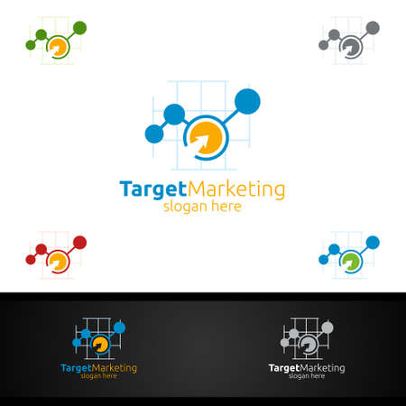 Target Marketing Financial Advisor Logo Design Template Icon