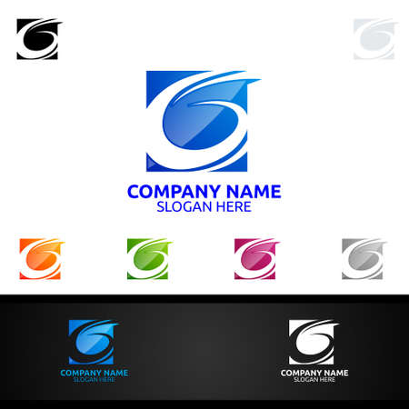 Letter G, 6 for Digital Vector Logo, Marketing, Financial, Advisor or Invest Design Icon