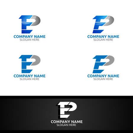Letter E, P for Digital Vector Logo, Marketing, Financial, Advisor or Invest Design Icon