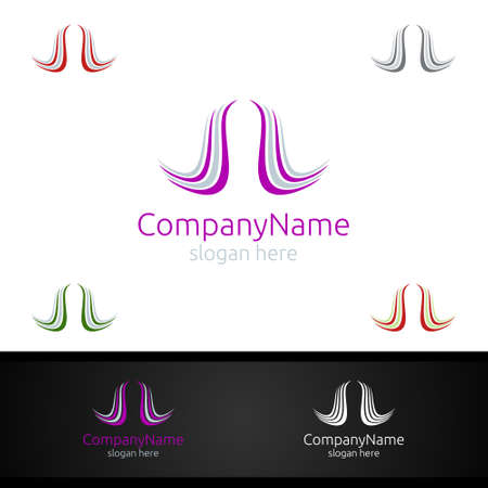 Beauty salon Vector logo Design with Woman face and SPA, Fashion, Makeup, Hairdressing or Hairstyle girl related business concept icon