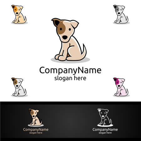 Dog Vector Logo for Pet Shop, Veterinary, or Dog Lover Concept 일러스트