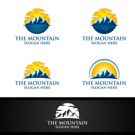 Mountain Vector Logo Design, Concept for Nature Sports, Expedition or Photography