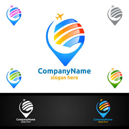 Travel and Tourism Logo for Hotel and vacation vector illustration