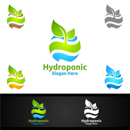 Global Hydroponic Gardener  with Green Garden Environment or Botanical Agriculture Vector Design Illustration