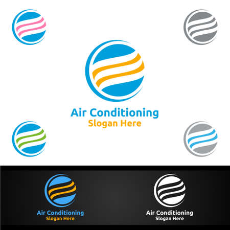 Air Conditioning and Heating Services Icon  Design 向量圖像