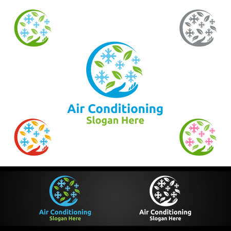 Fix Snow Air Conditioning and Heating Services Logo Design