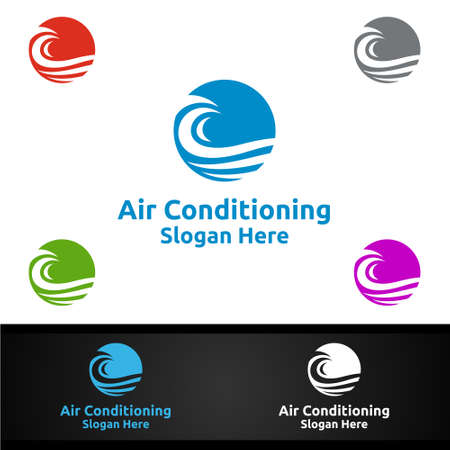 Snow Air Conditioning and Heating Services Logo Design