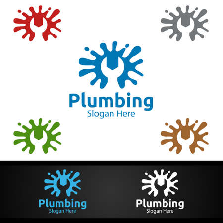 Splash Plumbing with Water and Fix Home Concept Design