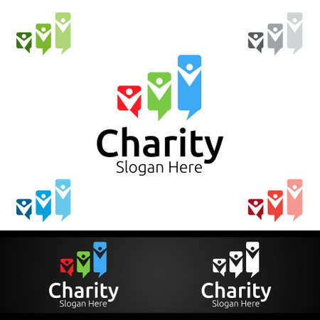 Review Helping Hand Charity Foundation Creative Logo for Voluntary Church or Charity Donation Design