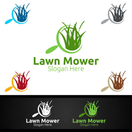 Find Lawn Mower Logo for Lawn Mowing Gardener Vector Design