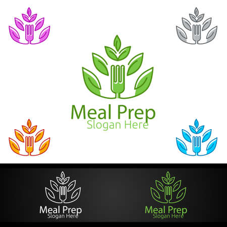 Tree Meal Prep Healthy Food for Restaurant, Cafe or Online Catering Delivery Design
