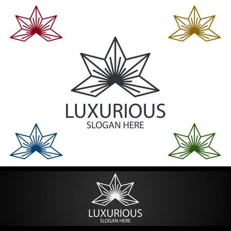 Luxurious Royal Logo for Jewelry, Wedding, Hotel or Fashion Design Logo