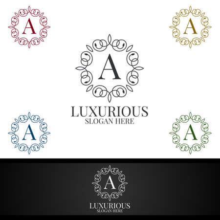 Luxurious Royal Logo for Jewelry, Wedding, Hotel or Fashion Design