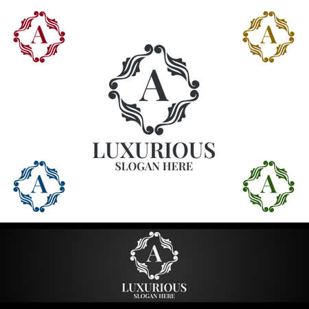 Luxurious Royal Logo for Jewelry, Wedding, Hotel or Fashion Design