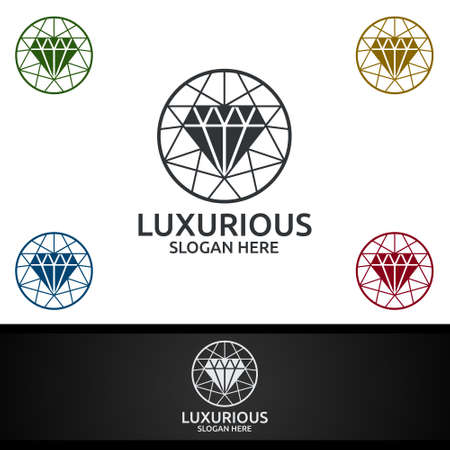 Diamond Luxurious Royal  for Jewelry, Wedding, Hotel or Fashion Design Ilustracja