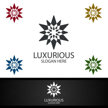Diamond Luxurious Royal Logo for Jewelry, Wedding, Hotel or Fashion Design