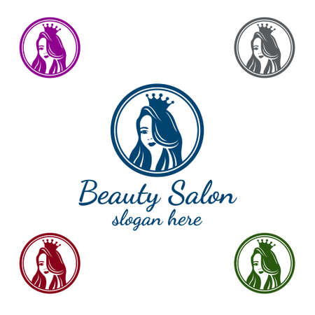 Salon logo for beauty hairstylist on white