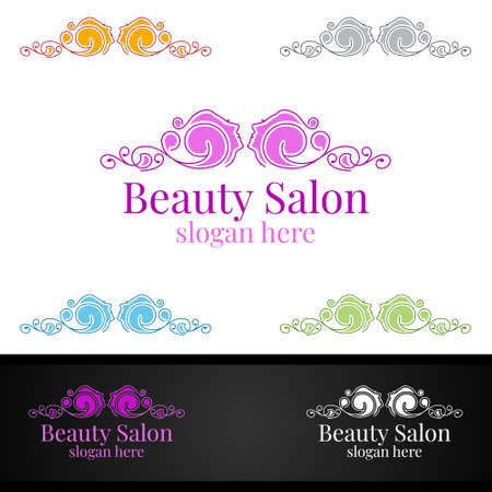 Salon Fashion Logo for Beauty Hairstylist, Cosmetics, or Boutique Design
