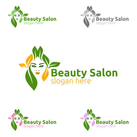 Natural Salon Fashion Logo for Beauty Hairstylist, Cosmetics, or Boutique Design