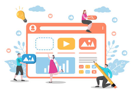Web Development Flat Illustrations for Websites, Programming, Marketing Materials, Business Presentations, Online Advertising and Mobile Applications