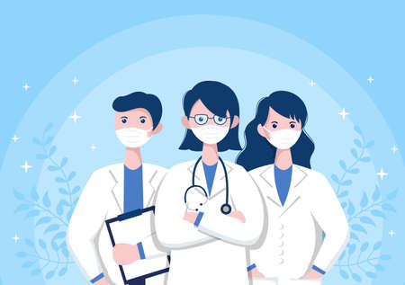 Thank You Doctor and Nurse, Illustration Pack of Thanksgiving To All Medical Assistants For Fighting with and Saving Lots of Lives Design