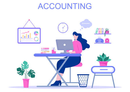 Financial Management or Accounting Vector Illustration For Increase Income, Economic Analysis, Finance Statement And Budget Concept