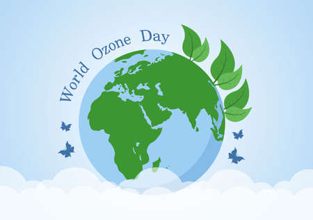 World Ozone Day is Commemorated Every September 16 To Raise Public Awareness About Of The Earth Layer And Protecting Environment. Background Vector Illustration
