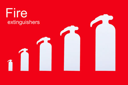 foam safe: symbol of fire extinguishers on the wall