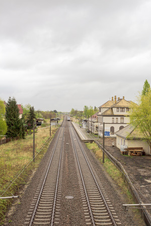 a railway whit an Vanishing point in the distance