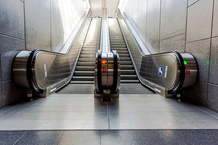peron: at the station have several escalators for each peron