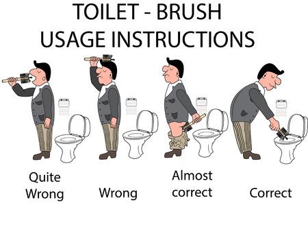 funny guy: instructions de toilette de l'utilisateur Illustration