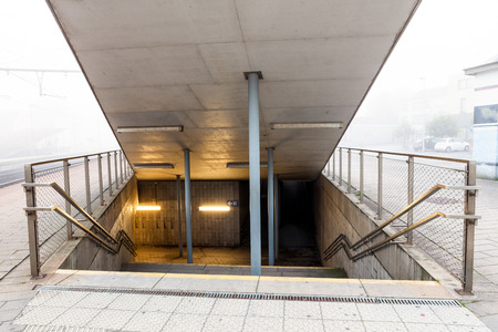 onder the train is there an Subway underpass photo