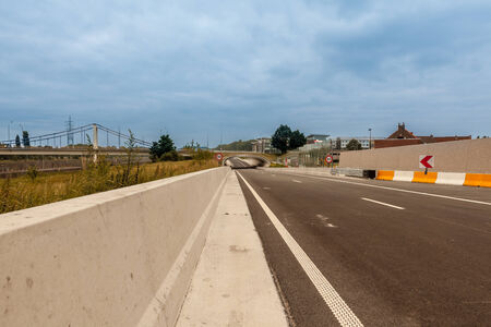 disappears: motorway in the morning that disappears into the distance