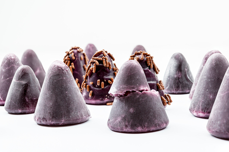 nicety: A cuberdon is a cone-shaped Belgian candy Stock Photo