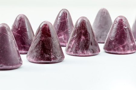 tidbit: A cuberdon is a cone-shaped Belgian candy Stock Photo