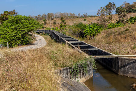 In Thailand, there is a stream of Aqueduct for the irrigation of the fields