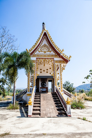 This incinerator is in Thailand is a Buddhist tradition that people are linked photo