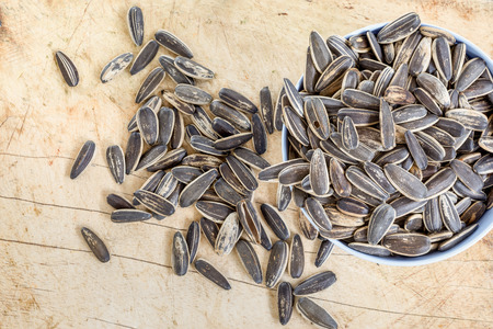 overthrown: overthrown in a bowl full of sunflower seeds