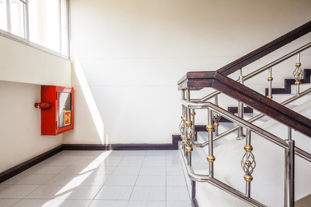 emergency stair: in an old building is located this beautiful staircase