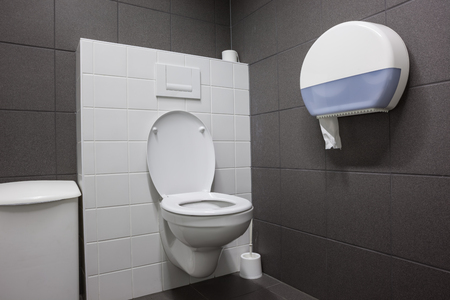 contemporary interior: an public toilet in an public building