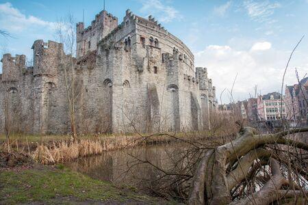edad media: en Gante hay un gavensteen de la Edad Media Foto de archivo