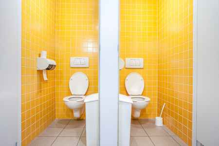 an public toilet in an public building for lady's Stock Photo