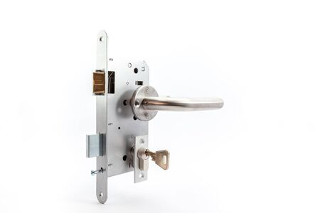 lock and key: an security lock with cylinder and key door handle