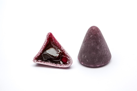 nicety: Pyramid shape of an cuberdons is a very tasty candy from Ghent